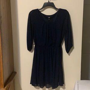 Navy IZ BYER clinched waist dress size Med